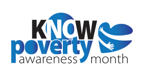 Poverty Awareness Blue